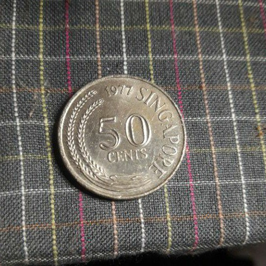 uang 50 cents singapore 1977