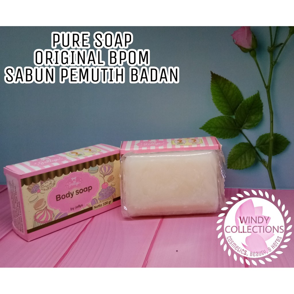 Bpom Pure Body Soap By Jelly Sabun Shopee Indonesia 100 Pemutih Badan