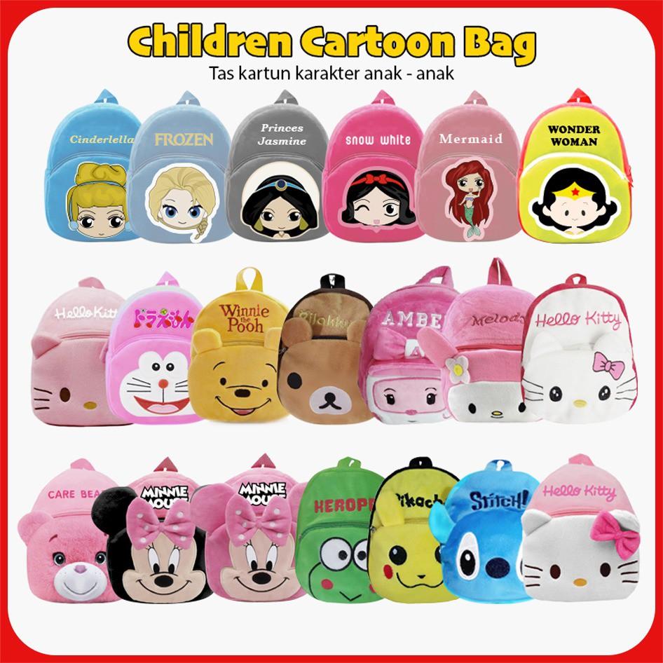 1KG BISA MUAT 10PCS  Tas Ransel Anak Sekolah Karakter Kartun Lucu Backpack Fashion Kids Motif 1