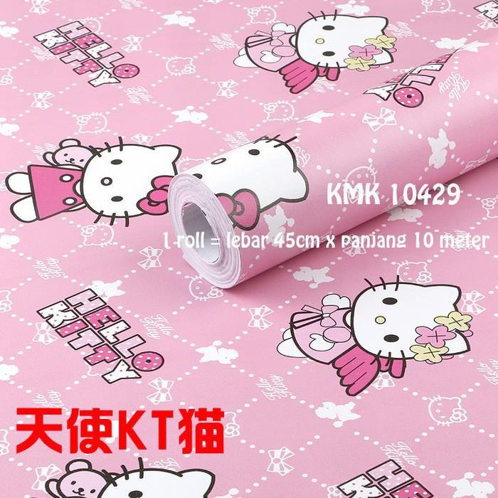 Wallpaper Dinding Hello Kitty / Wall Sticker Motif Hk / Wall Paper