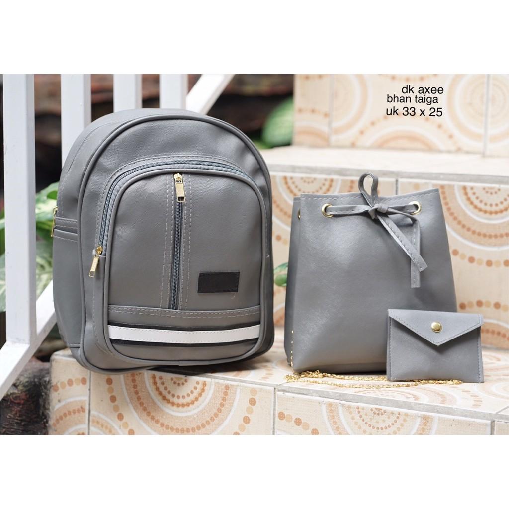 Backpack Ransel Micro 3in1 Gesper Kait Serut Shopee Indonesia Nylon Set