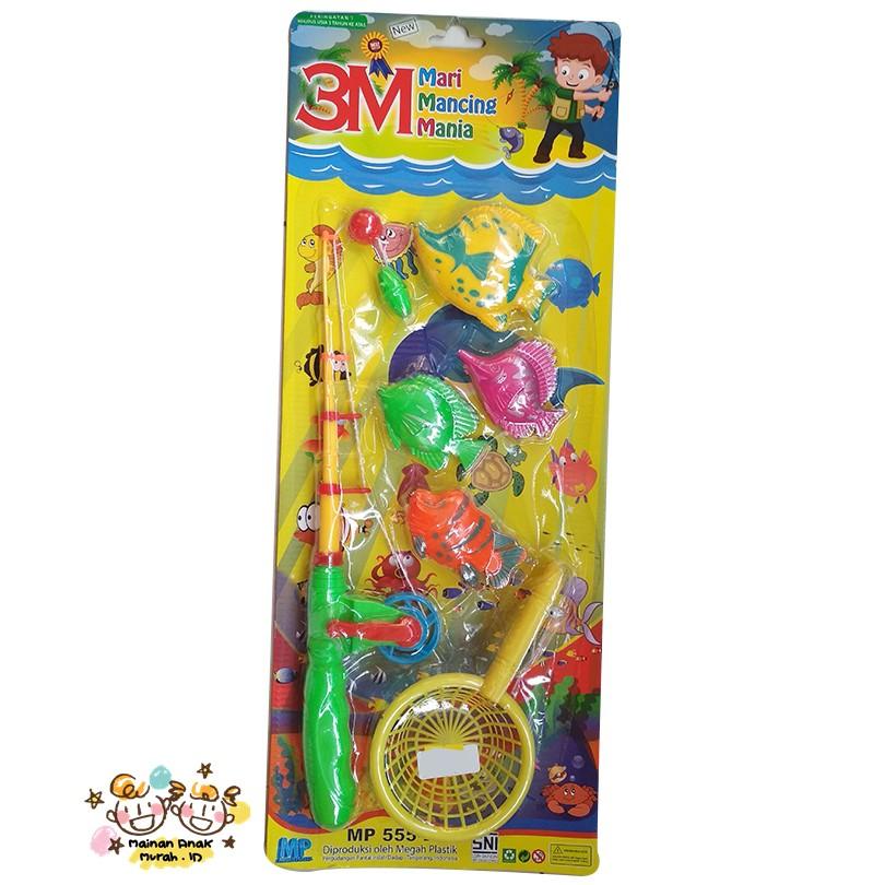 Mainan pancing ikan magnet putar dan baterai  826c92fa45