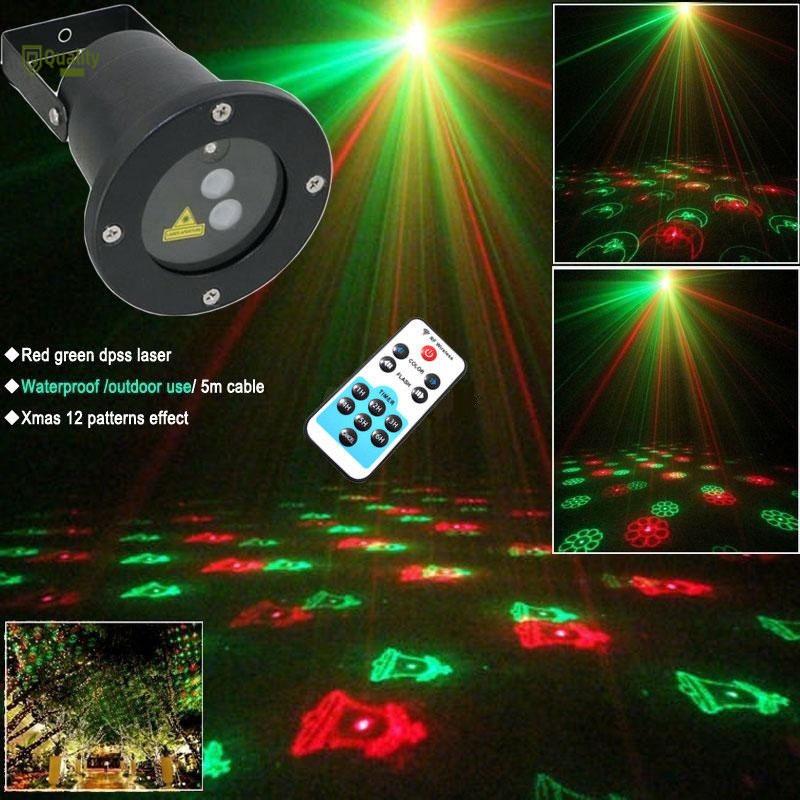Jid Lampu Proyektor Laser Led 12 Gobo Plug Eu Untuk Outdoor Taman Natal Shopee Indonesia