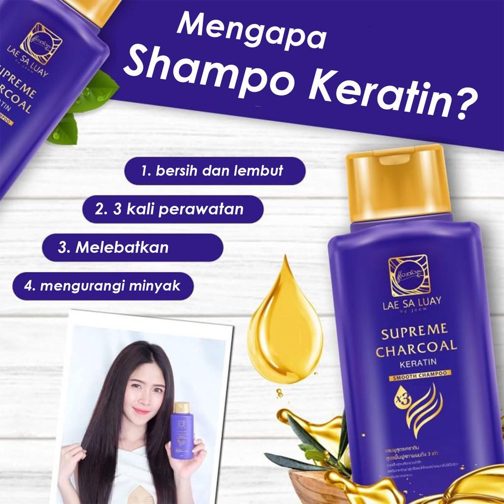 BPOM Lae Sa Luay Supreme Charcoal Smooth Shampoo / Shampo Kondisioner 200ml-4