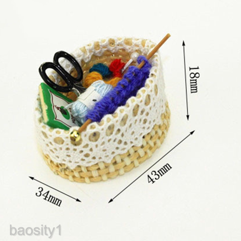 Scale Dollhouse Wool Knitting Tools