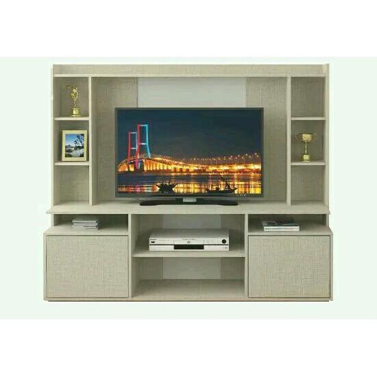 Jual Wall Unit Meja Tv Cabinet Tv Lemari Tv Tinggi Panjang 1 6 Meter 8214 Techido The Best Shopee Indonesia
