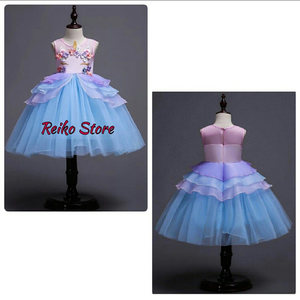 Baju Anak Dress Kostum Princess Aurora Pink Shopee Indonesia Motif