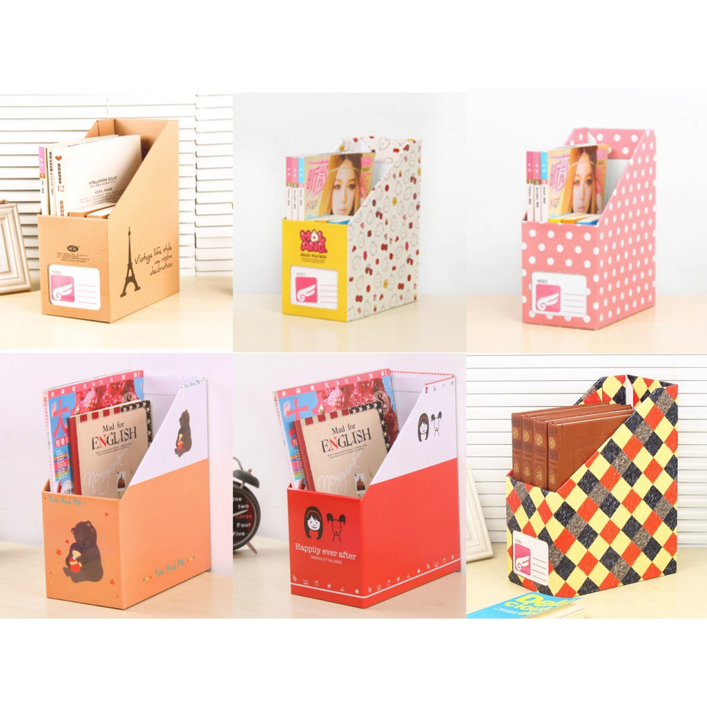 Multibox Kotak Organizer Buku Majalah Index Box File Kartun Folder Alat Tulis Shopee Indonesia