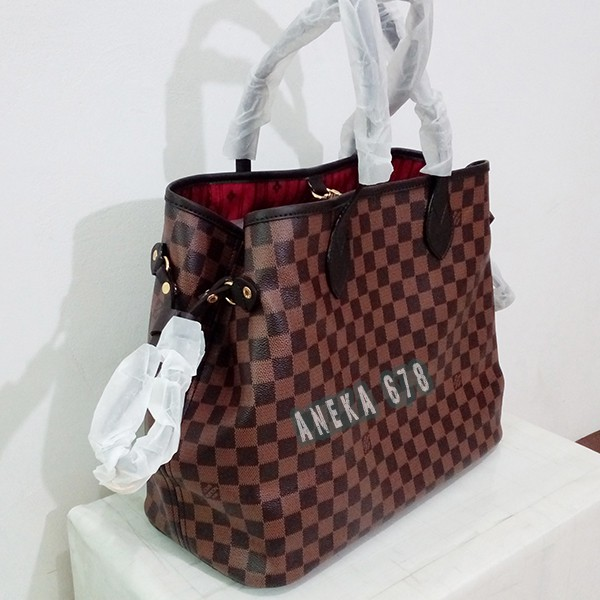 HOT SELL!! TAS LV NEVERFULL DAMIER SIZE M SEMI SUPER LOUIS VUITTON ... 8f2eeefb38