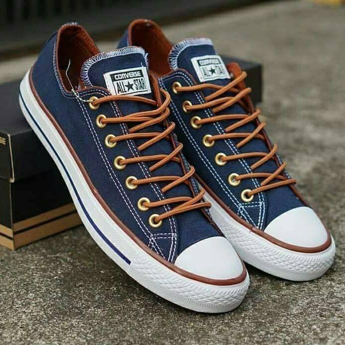 30aab932969f Sepatu Pria Converse All Star Chuck Taylor CT Tali Coklat Cowo Kets Casual  Sekolah Sneakers