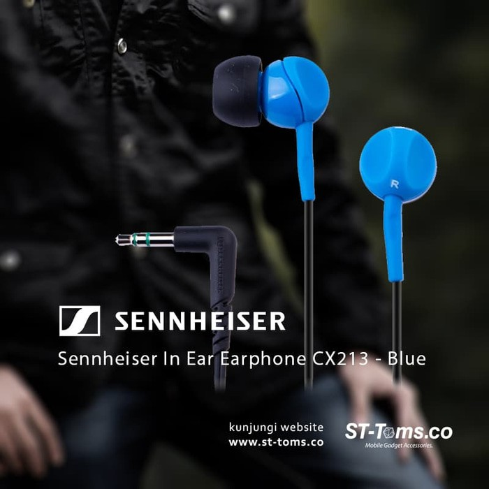 Sennheiser In Ear Earphone Cx213 - Black ..!!! | Shopee Indonesia