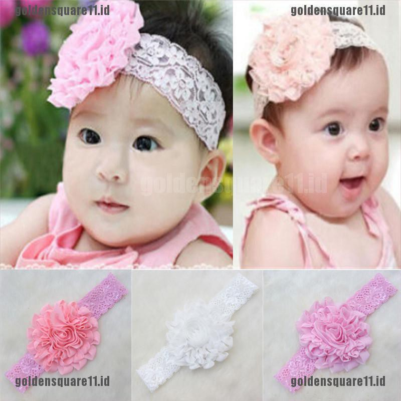 3pcs Baby Photo Props Party Lace Bow Flower Headband Headwear Mini Hair Band