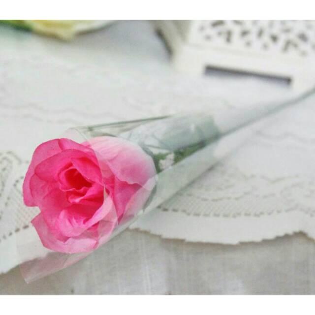1 tangkai setangkai mawar rose bunga plastik artificial A1-1 minimal order 2  pcs  64f4c76d42