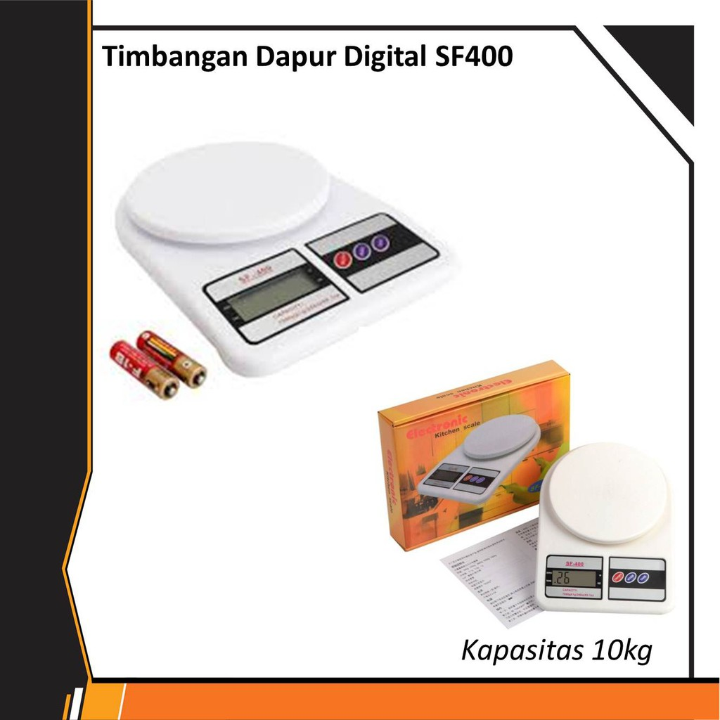 Timbangan Dapur Digital Sf 400 10kg Shopee Indonesia Kue Kapasitas An
