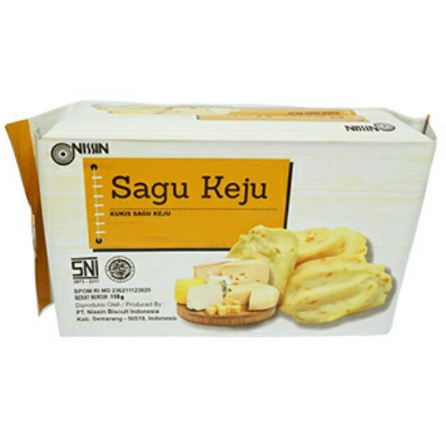 Nissin Sagu Keju 110gram Kukis Kue Kering Biskuit Cookies Sagu Keju Shopee Indonesia