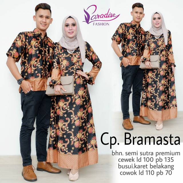 Batik Couple Asli Solo SemiSutra Abimana   SemiSutra Abimana Couple Set  c7b45ccfb5