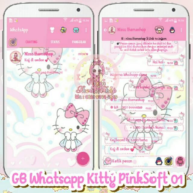 Tema Whatsapp Wa Kitty Pinksoft