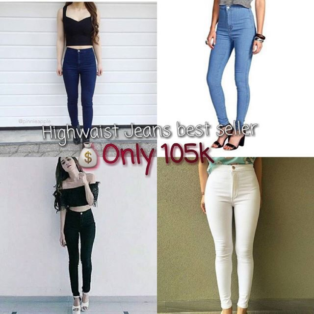 ❃75% kapas celana jeans perempuan musim semi dan gugur 2018 Korea versi baru tipis ketat kaki sembi   Shopee Indonesia