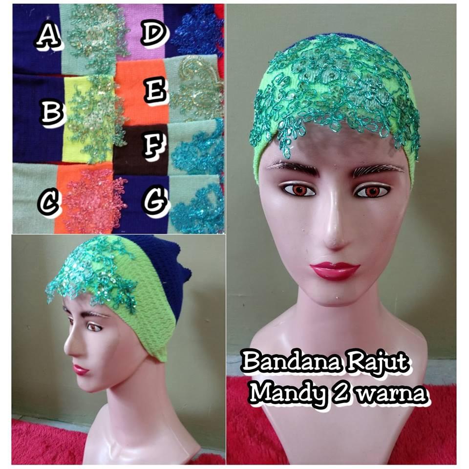Bandana Rajut Kerut 2warna Mix Polos Two Tone Anti Pusing 2in1 Shopee Indonesia