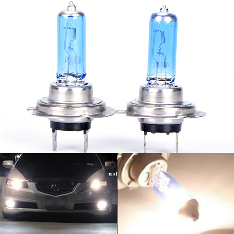 Car White H3//H4 6000K Xenon Gas Halogen Headlight Light Lamp Bulbs 55//100W 12V