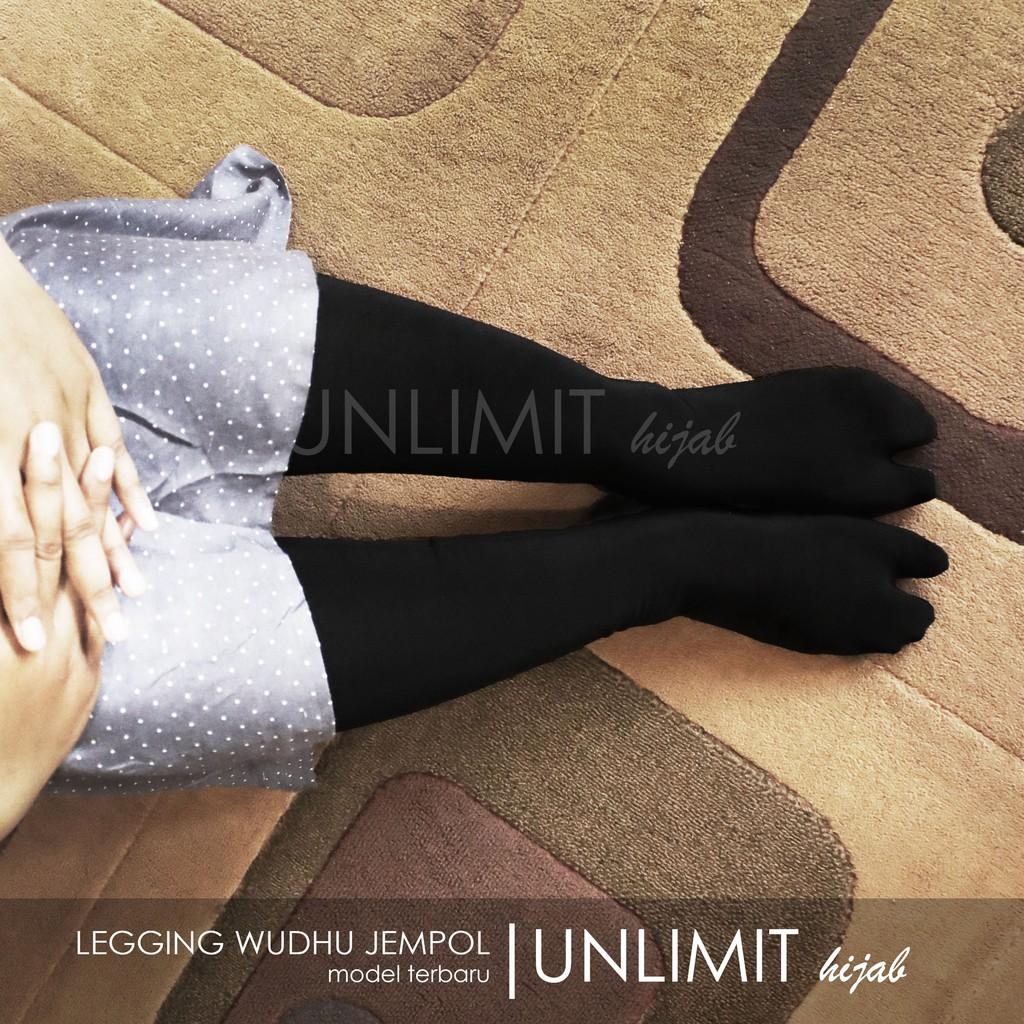 Legging Wudhu Jempol Original By Unlimit Hijab Leging Wudhu Premium Dengan Kaos Kaki Jempol Shopee Indonesia