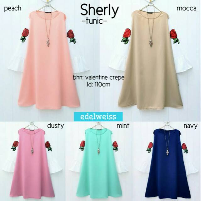 Sherly tunik baju tunik baju size jumbo baju muslim baju lengan panjang baju  formal baju casual  0b86de9643