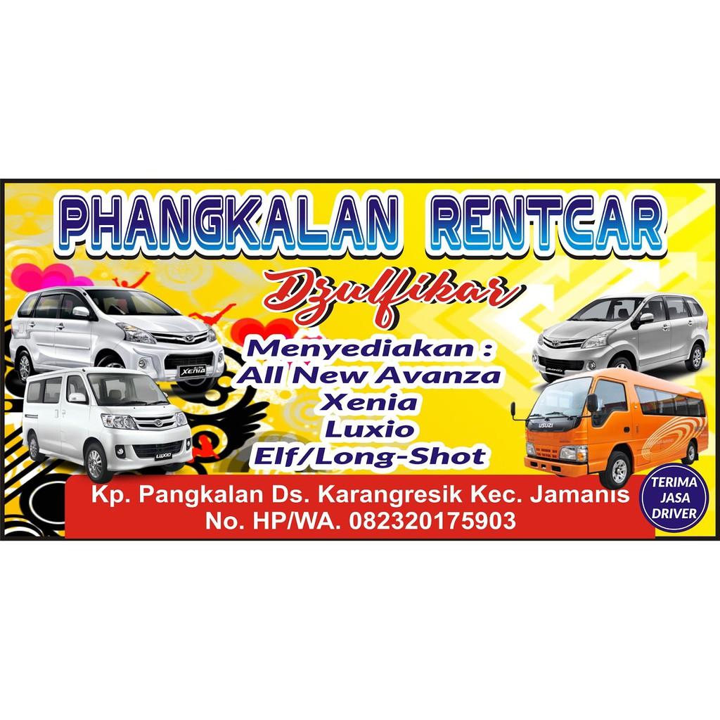 Spanduk Rental Mobil Ukuran Dan Desain Bisa Custom Shopee Indonesia