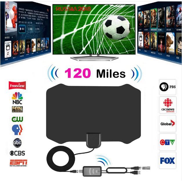 120 Miles Antena Digital HDTV Indoor TV Antenna with Amplifier Signal Booster/&/&
