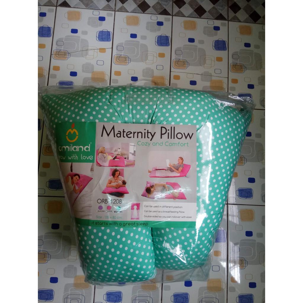 Bantal Ibu Hamil Dan Menyusui Omiland Maternity Pillow Pink Tosca Pregnancy Belt Ananda Reguler Hijau Biru Shopee Indonesia