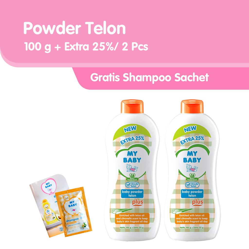 Free Shampoo My Baby Powder Telon Plus Bedak Bayi 100 G Extra Lustybunny Oval Case Tb 1603 Orange Fill 25 2 Pcs Shopee Indonesia