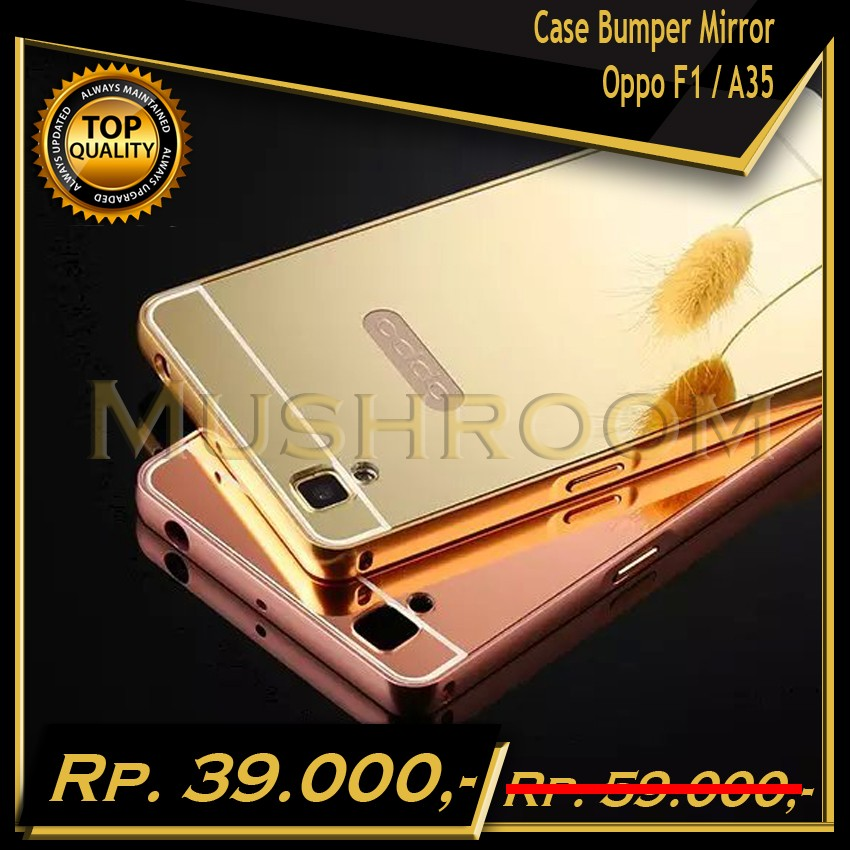 Case for Oppo F1 Selfie Expert with Bumper Backcase Mirror Slide | Shopee Indonesia