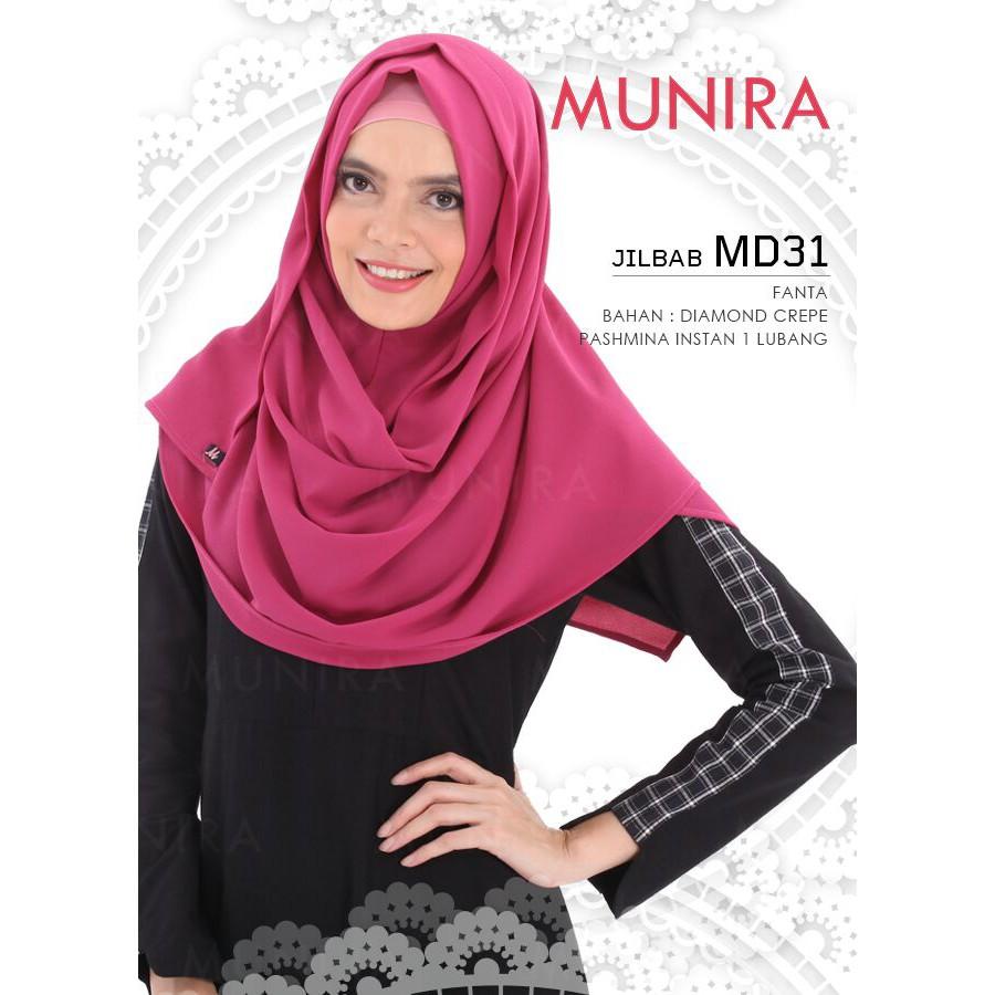Hijab Segiempat Instant Bahan Diamond Crepe Hijab Tanpa Pet Md20