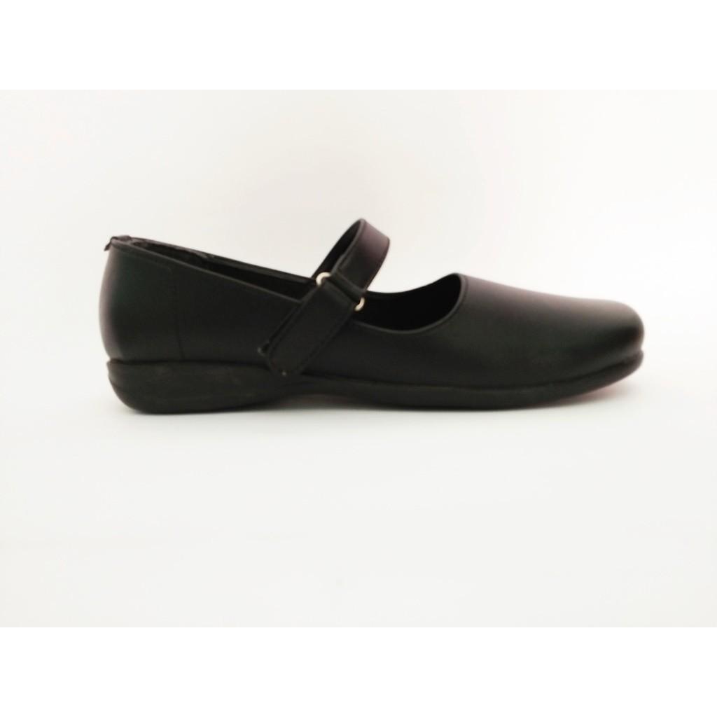 Sepatu Pantofel Wanita B13 Hitam Polos Paskibraka  5486ac0c5a