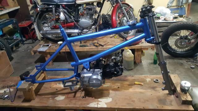 Rangka Sepeda Pnp Mesin Motor Frame Bmx Untuk Mesin Benek Shopee Indonesia
