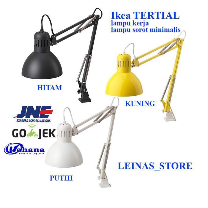 IKEA TERTIAL Lampu kerja / Lampu Belajar, putih,kuning,hitam | Shopee Indonesia