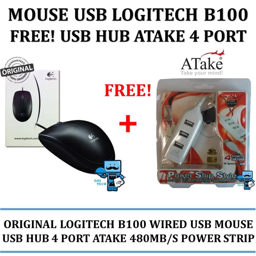 Mouse Trackball Logitech B 100 Optical Usb 910 001439 Original B100 Shopee Indonesia