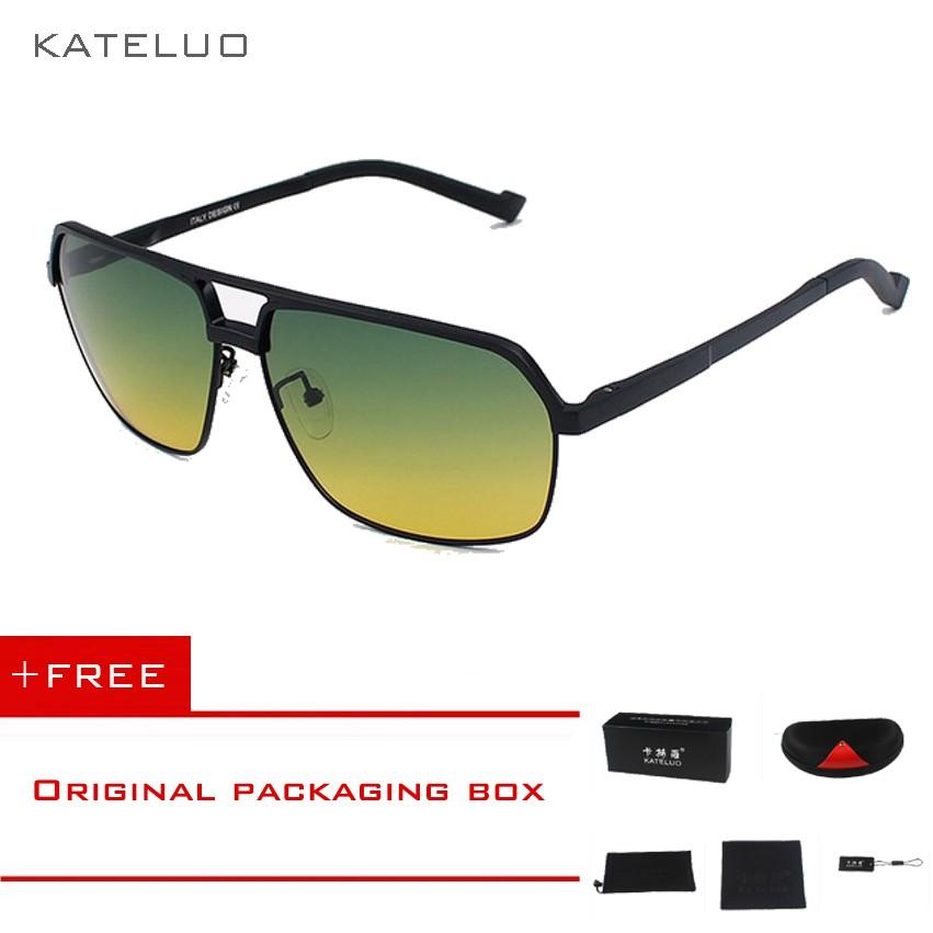 🚚COD√KATELUO Kacamata Pria Lensa Polarisasi Penglihatan Fungsi Ganda  Siang Malam 8549  a2fafa1c81