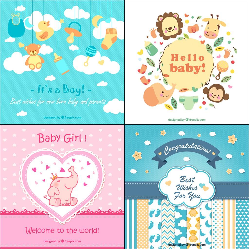 Kartu Ucapan Kelahiran Bayi / Gift Card / Greeting Card ...