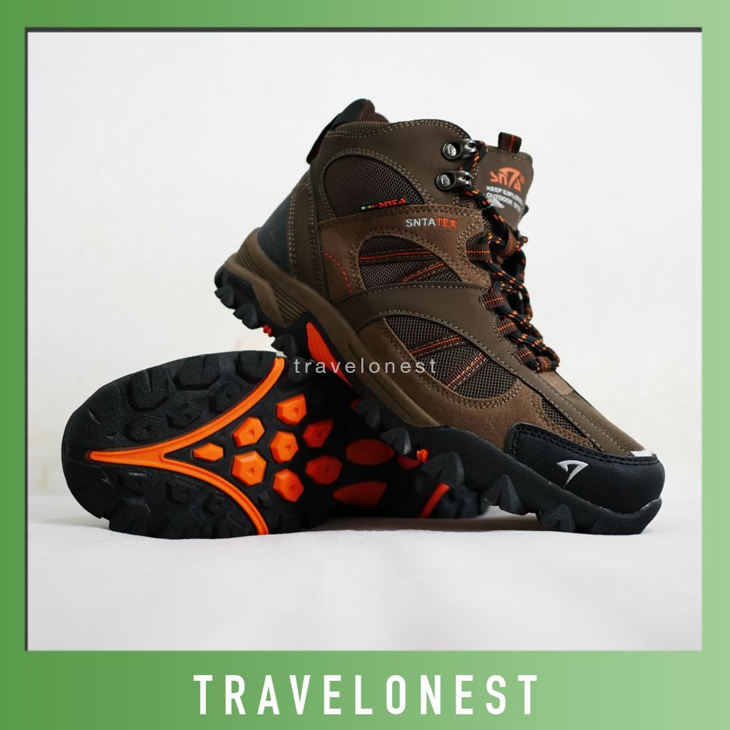 Sepatu Tracking Gunung Snta 429 Grey Blue 471 Series Trekking Hiking Outdoor Footwear Shopee Indonesia