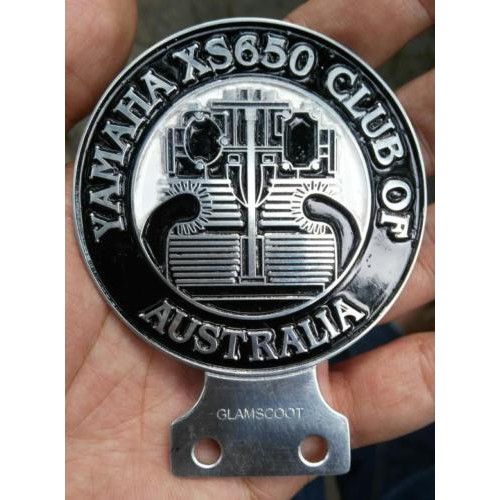 YAMAHA XS650 CLUB AUSTRALIA BADGE EMBLEM LOGO PLACCA PLAKETTE PARTS BOBBER SPECS