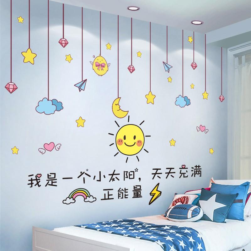 Stiker Dinding Kartun Tk Kamar Anak Anak Wallpaper Hiasan Dinding Stiker Anak Laki Laki Dan Perempuan Bedroom Wallpaper Self Adhesive Shopee Indonesia