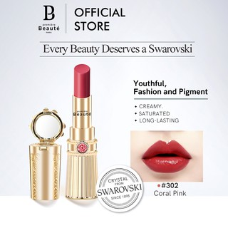 Premiere Beaute Swarovski Moisturizing & Long-Lasting Crystal Lipstik-Coral Pink302 thumbnail