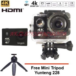 Kogan Action Camera 4k WIFI Ultra HD 18 MP 2 Inch LCD + Tripod