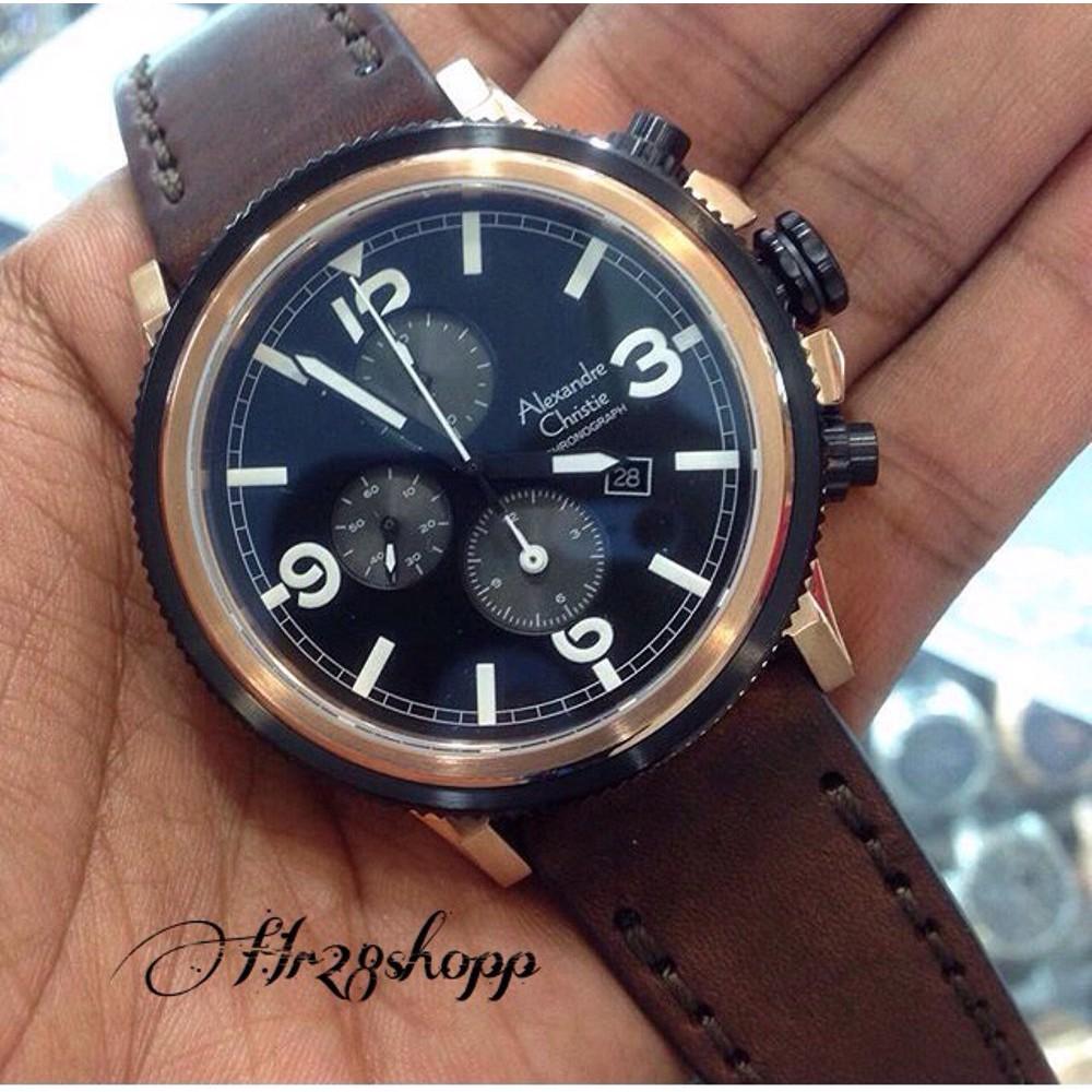 Laris Jam Tangan Pria Original Alexandre Christie 6463 Black Gga Ac9221 Limited Edition Berkualitas Shopee Indonesia