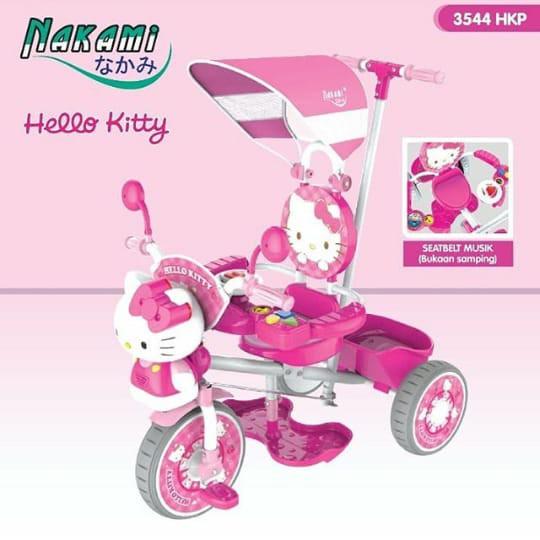 Sepeda Roda 3 Anak Hello Kitty/ Doraemon Nakami (BONEKA