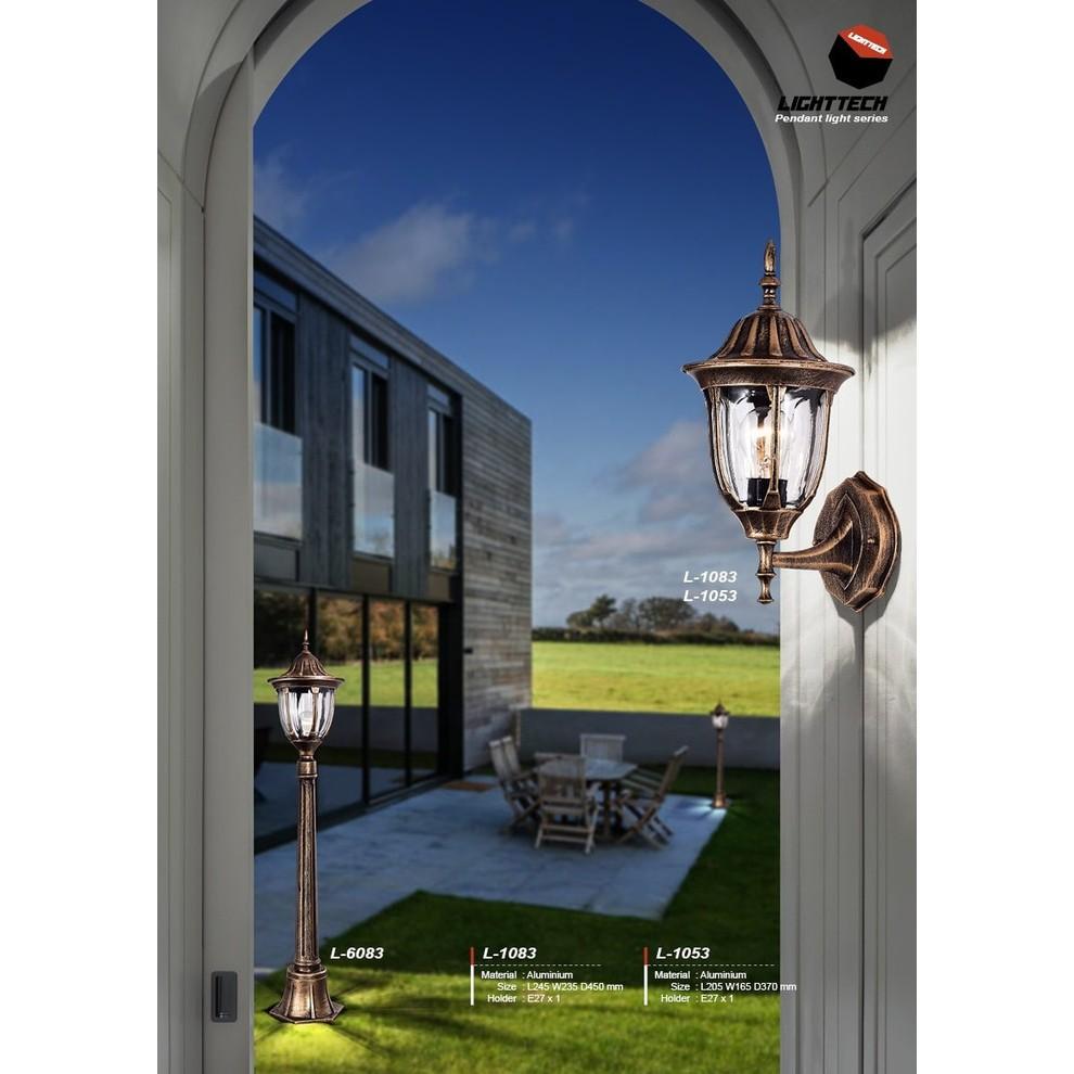 L018 2a Lampu Dinding Taman Piral Minimalis Fiting E27 Outdoor Pagar Pilar 45 Shopee Indonesia