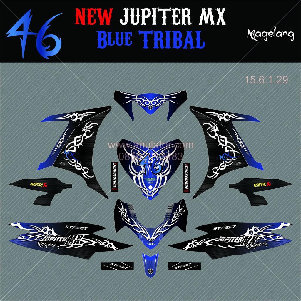 Paling termurahh terlarisss sticker striping motor stiker yamaha new jupiter mx tribal spec a custom shopee indonesia