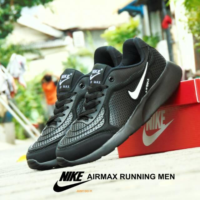 Sepatu Nike Airmax Zoom GRADE ORI Full White Putih Sport Casual Pria Wanita   1e51560d31