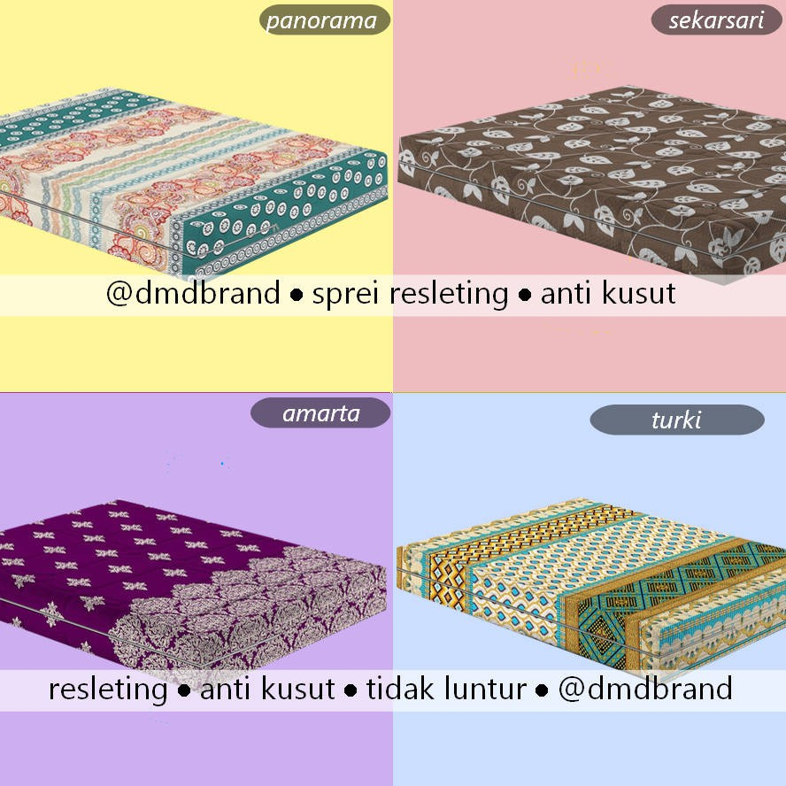 Sarung Kasur Busa Sprei Motif Kartun Uk 90100120160180x200 Monalisa 90 T15 T20t15 New Shopee Indonesia