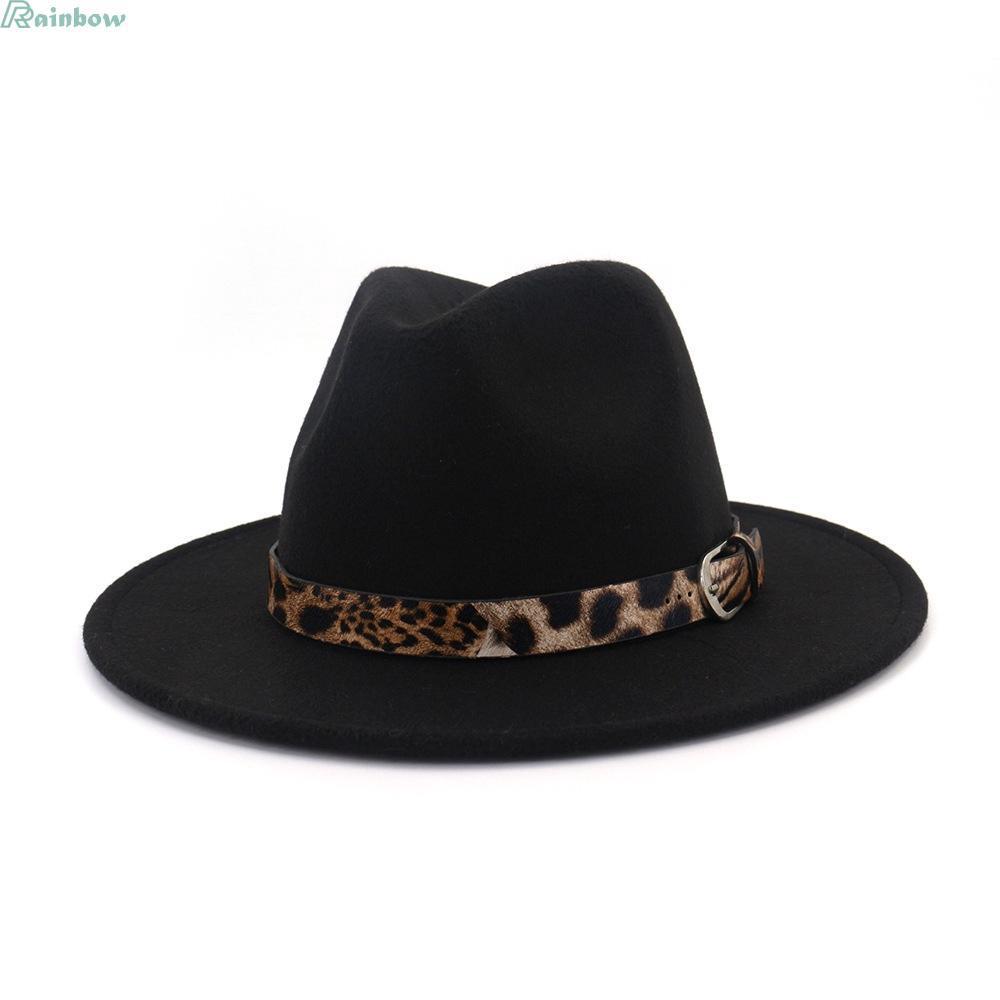 5be5b2d6aa42aa Hot Men Women Sun Visor Felt Wide Brim Fedora Panama Hat Autumn Vintage Cap  Wide | Shopee Indonesia